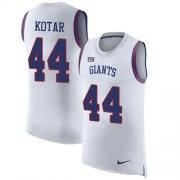 Wholesale Cheap Nike Giants #44 Doug Kotar White Men's Stitched NFL Limited Rush Tank Top Jersey