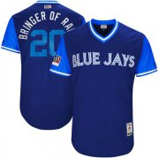 "Wholesale Cheap Blue Jays #20 Josh Donaldson Light Blue ""Bringer of Rain"" Players Weekend Authentic Stitched MLB Jersey"