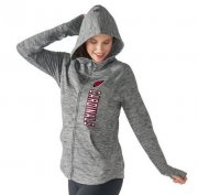 Wholesale Cheap Women's NFL Arizona Cardinals G-III 4Her by Carl Banks Recovery Full-Zip Hoodie Heathered Gray