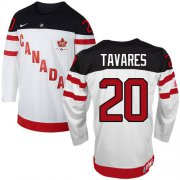 Wholesale Cheap Olympic CA. #20 John Tavares White 100th Anniversary Stitched NHL Jersey