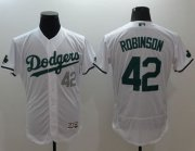 Wholesale Cheap Dodgers #42 Jackie Robinson White Celtic Flexbase Authentic Collection Stitched MLB Jersey
