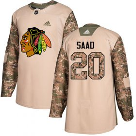 Wholesale Cheap Adidas Blackhawks #20 Brandon Saad Camo Authentic 2017 Veterans Day Stitched Youth NHL Jersey