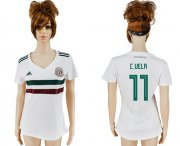 Wholesale Cheap Women's Mexico #11 C.Vela Away Soccer Country Jersey