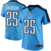 Wholesale Cheap Nike Titans #25 Adoree' Jackson Light Blue Women's Stitched NFL Limited Rush Jersey