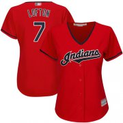 Wholesale Cheap Indians #7 Kenny Lofton Red Women's Stitched MLB Jersey