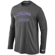 Wholesale Cheap Nike Indianapolis Colts Heart & Soul Long Sleeve T-Shirt Dark Grey