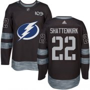 Cheap Adidas Lightning #22 Kevin Shattenkirk Black 1917-2017 100th Anniversary Stitched NHL Jersey