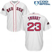 Wholesale Cheap Red Sox #23 Blake Swihart White Cool Base 2018 World Series Champions Stitched Youth MLB Jersey