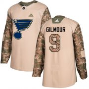 Wholesale Cheap Adidas Blues #9 Doug Gilmour Camo Authentic 2017 Veterans Day Stitched NHL Jersey
