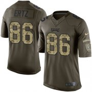 Wholesale Cheap Nike Eagles #86 Zach Ertz Green Youth Stitched NFL Limited 2015 Salute to Service Jersey