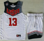 Wholesale Cheap 2014 USA Dream Team #13 James Harden White Basketball Jersey Suits