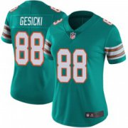 Wholesale Cheap Women's Miami Dolphins #88 Mike Gesicki Limited Aqua Alternate Vapor Untouchable Jersey