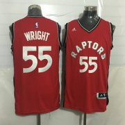 Wholesale Cheap Men's Toronto Raptors #55 Delon Wright Red New NBA Rev 30 Swingman Jersey