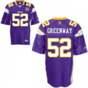 Wholesale Cheap Vikings #52 Chad Greenway Purple Team 50TH Patch Stitched NFL Jersey