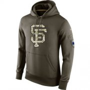Wholesale Cheap Men's San Francisco Giants Nike Olive Salute To Service KO Performance Hoodie