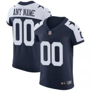 Wholesale Cheap Nike Dallas Cowboys Customized Navy Blue Thanksgiving Stitched Vapor Untouchable Throwback Elite Men's NFL Jersey