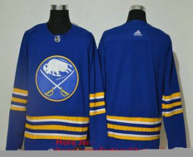 Wholesale Cheap Men\'s Buffalo Sabres Blank Blue Adidas 2020-21 Alternate Authentic Player NHL Jersey