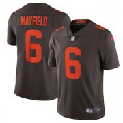 Wholesale Cheap Cleveland Browns #6 Baker Mayfield Men's Nike Brown Alternate 2020 Vapor Limited Jersey