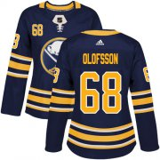 Wholesale Cheap Adidas Sabres #68 Victor Olofsson Navy Blue Home Authentic Women's Stitched NHL Jersey