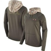 Wholesale Cheap Women's Arizona Cardinals Nike Olive Salute to Service Performance Pullover Hoodie