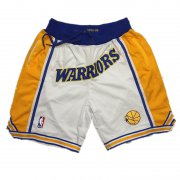 Wholesale Cheap Golden State Warriors 1995-96 White Just Don Shorts Swingman Shorts
