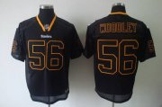 Wholesale Cheap Steelers #56 LaMarr Woodley Lights Out Black Stitched NFL Jersey