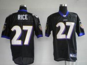 Wholesale Cheap Ravens #27 Ray Rice Black Stitched NFL Jersey