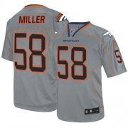 Wholesale Cheap Nike Broncos #58 Von Miller Lights Out Grey Men's Stitched NFL Elite Jersey