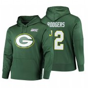 Wholesale Cheap Green Bay Packers #12 Aaron Rodgers Nike NFL 100 Primary Logo Circuit Name & Number Pullover Hoodie Green