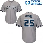 Wholesale Cheap Yankees #25 Gleyber Torres Grey New Cool Base Stitched MLB Jersey