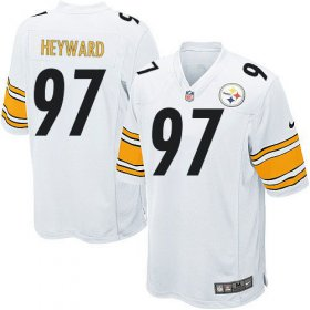 Wholesale Cheap Nike Steelers #97 Cameron Heyward White Youth Stitched NFL Elite Jersey
