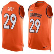 Wholesale Cheap Nike Broncos #29 Bradley Roby Orange Team Color Men's Stitched NFL Limited Tank Top Jersey