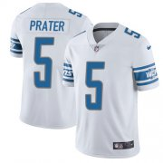 Wholesale Cheap Nike Lions #5 Matt Prater White Men's Stitched NFL Vapor Untouchable Limited Jersey