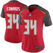 Wholesale Cheap Nike Buccaneers #34 Mike Edwards Red Team Color Women's Stitched NFL Vapor Untouchable Limited Jersey