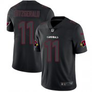 Wholesale Cheap Nike Cardinals #11 Larry Fitzgerald Black Men's Stitched NFL Limited Rush Impact Jersey