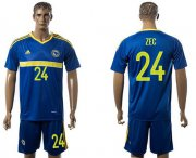 Wholesale Cheap Bosnia Herzegovina #24 Zec Home Soccer Country Jersey