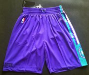 Wholesale Cheap Men's Charlotte Hornets Purple Swingman Short