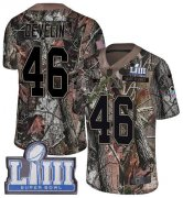 Wholesale Cheap Nike Patriots #46 James Develin Camo Super Bowl LIII Bound Youth Stitched NFL Limited Rush Realtree Jersey