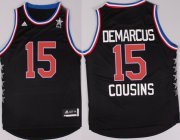 Wholesale Cheap 2015 NBA Western All-Stars #15 DeMarcus Cousins Revolution 30 Swingman Black Jersey