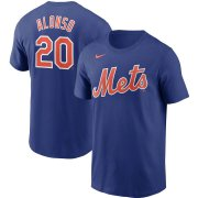 Wholesale Cheap New York Mets #20 Pete Alonso Nike Name & Number T-Shirt Royal