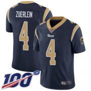 Wholesale Cheap Nike Rams #4 Greg Zuerlein Navy Blue Team Color Men's Stitched NFL 100th Season Vapor Limited Jersey