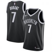 Wholesale Cheap Men's Brooklyn Nets #7 Kevin Durant Nike Black 2019-20 Swingman Icon Edition Jersey