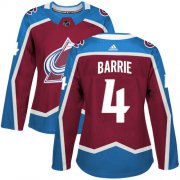 Wholesale Cheap Adidas Avalanche #4 Tyson Barrie Burgundy Home Authentic Women's Stitched NHL Jersey