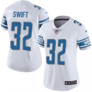 Wholesale Cheap Nike Lions #32 D'Andre Swift White Women's Stitched NFL Vapor Untouchable Limited Jersey