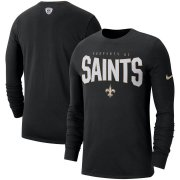 Wholesale Cheap New Orleans Saints Nike Sideline Property Of Performance Long Sleeve T-Shirt Black