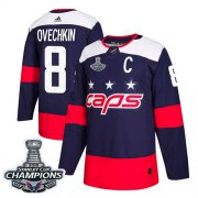 Wholesale Cheap Adidas Capitals #8 Alex Ovechkin Navy Authentic 2018 Stadium Series Stanley Cup Final Champions Stitched NHL Jersey
