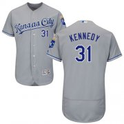 Wholesale Cheap Royals #31 Ian Kennedy Grey Flexbase Authentic Collection Stitched MLB Jersey