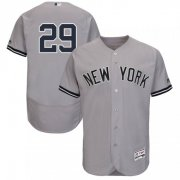 Wholesale Cheap Yankees #29 Gio Urshela Grey Flexbase Authentic Collection Stitched MLB Jersey