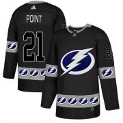 Wholesale Cheap Adidas Lightning #21 Brayden Point Black Authentic Team Logo Fashion Stitched NHL Jersey
