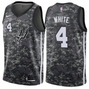 Wholesale Cheap Men's Nike San Antonio Spurs #4 Derrick White Black Basketball Swingman City Edition 2018-19 Jersey
